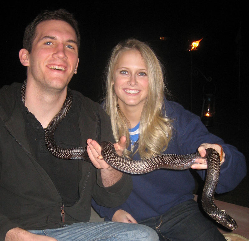 Couple of snake charmers