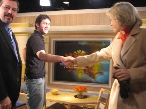 Good Morning America Diane Sawyer : Good morning america behind scenes neil meets diane sawyer